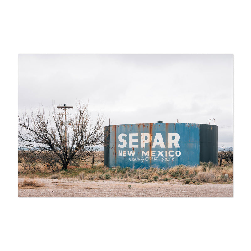 Separ New Mexico Water Tank Art Print