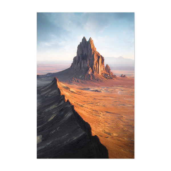 Shiprock New Mexico Desert Art Print