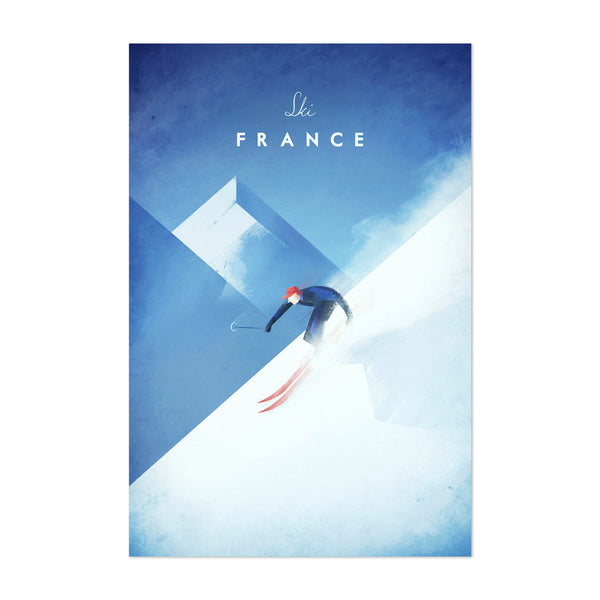 Minimal Travel French Alps Art Print