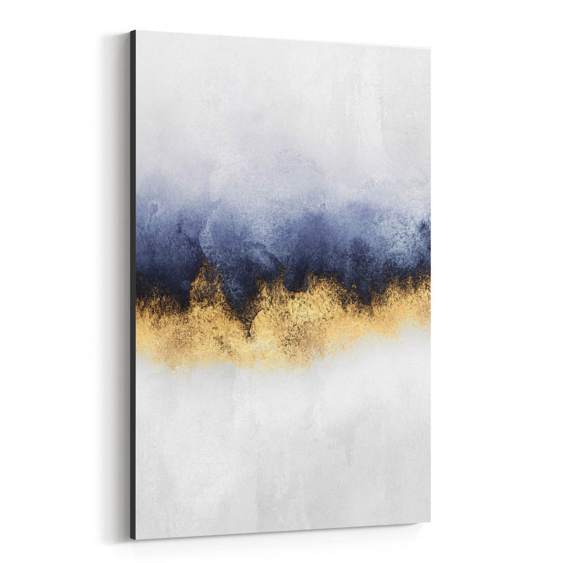 Abstract Sky Watercolor Nature Canvas Art Print