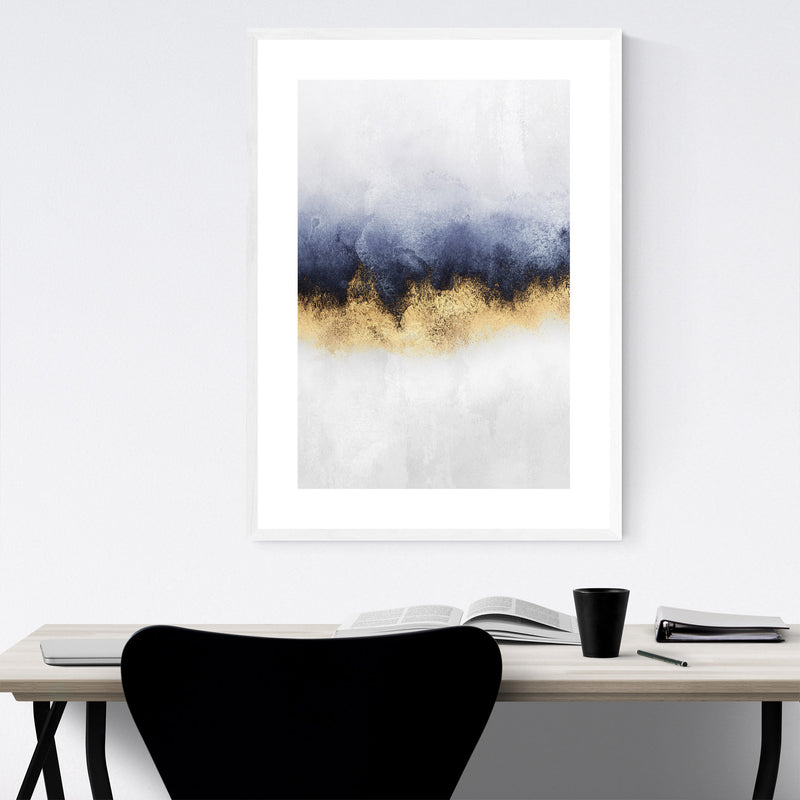 Abstract Sky Watercolor Nature Framed Art Print