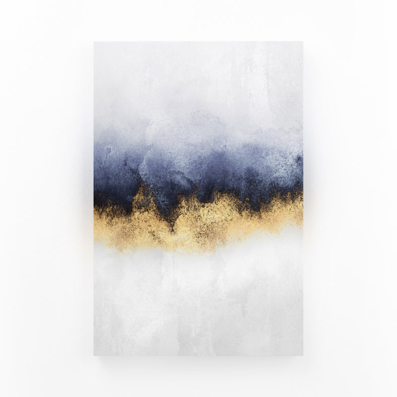 Abstract Sky Watercolor Nature Mounted Art Print