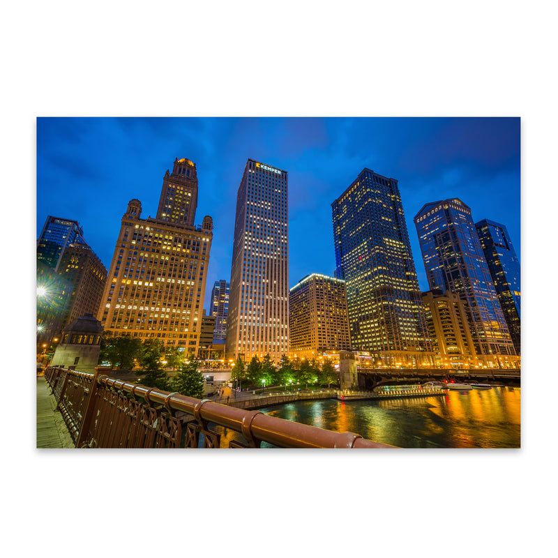 Chicago Skyline Cityscape Photo Metal Art Print
