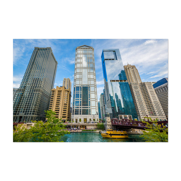 Downtown Chicago River Skyline Art Print
