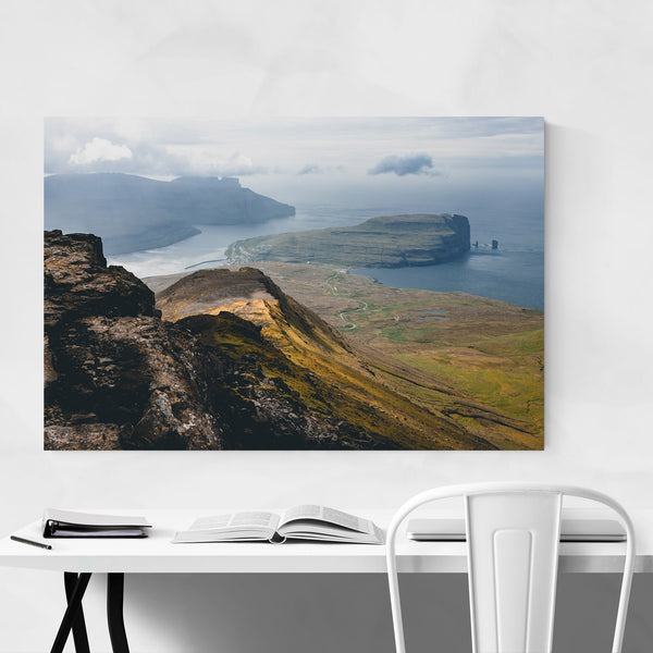 Faroe Islands Funningur Mountain Art Print