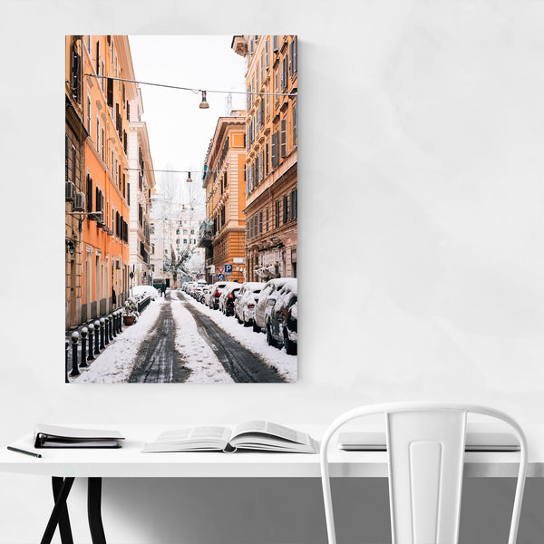 Rome Italy Snow Winter Prati Art Print
