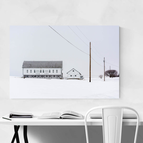 Pennsylvania Winter Snow Farm Art Print