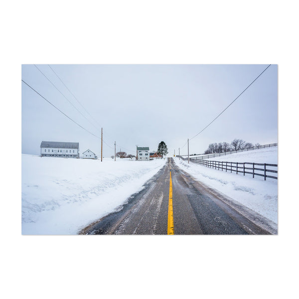 Pennsylvania Snow Farm Winter Art Print