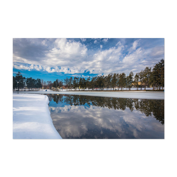 York Pennsylvania Winter Lake Art Print