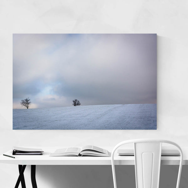 Snow Winter Farm Field Country Art Print