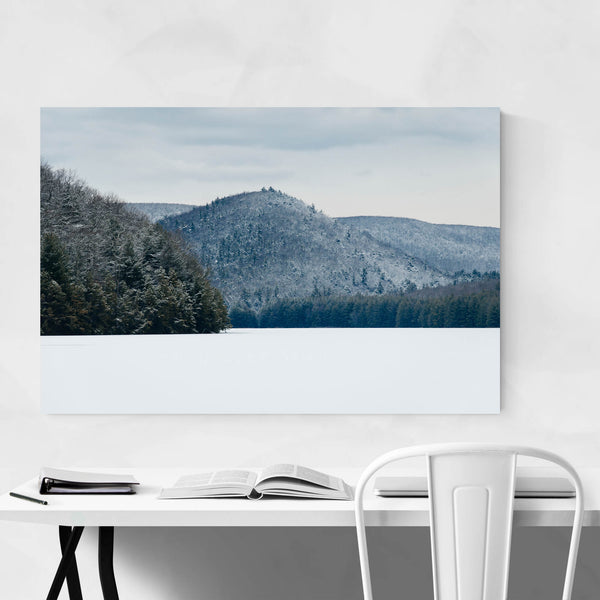 Pennsylvania Snowy Mountains Art Print