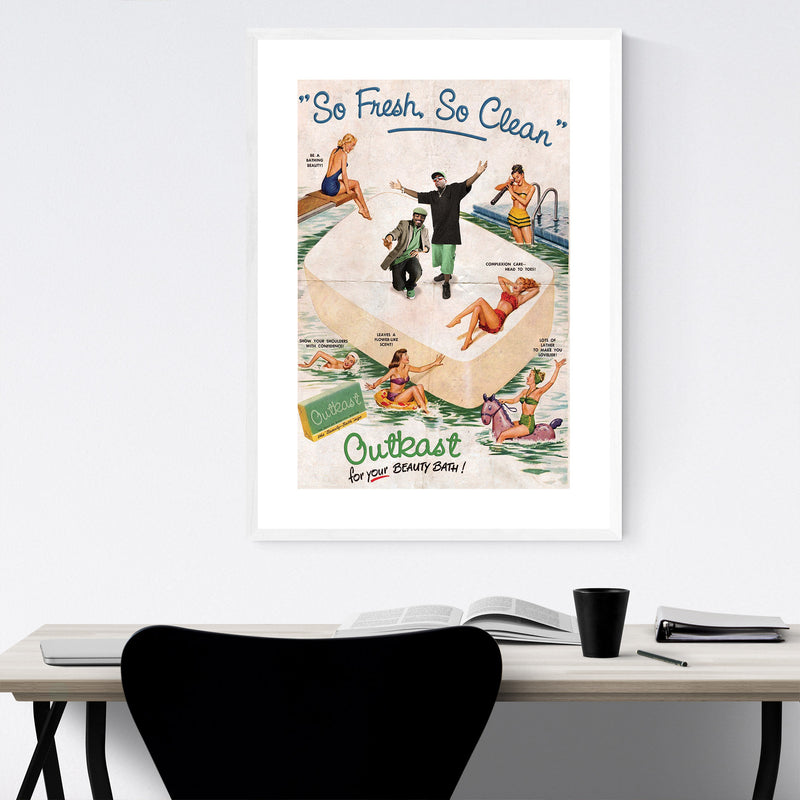 Outkast Music Hip Hop Rappers Framed Art Print