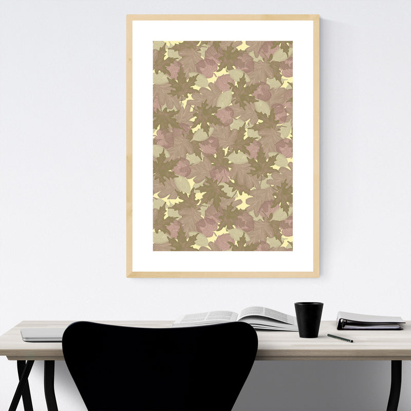 Abstract Pattern Pastel Autumn Framed Art Print