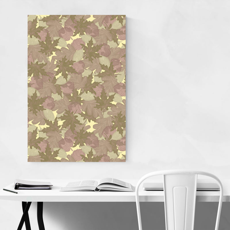 Abstract Pattern Pastel Autumn Art Print