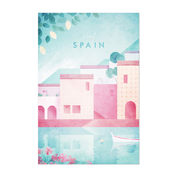 Minimal Spain Travel Poster Art Print