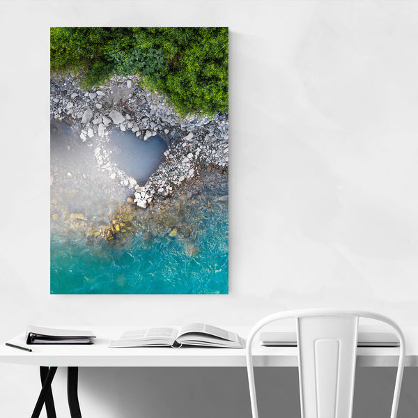 Heart Love Blue Water Nature Art Print