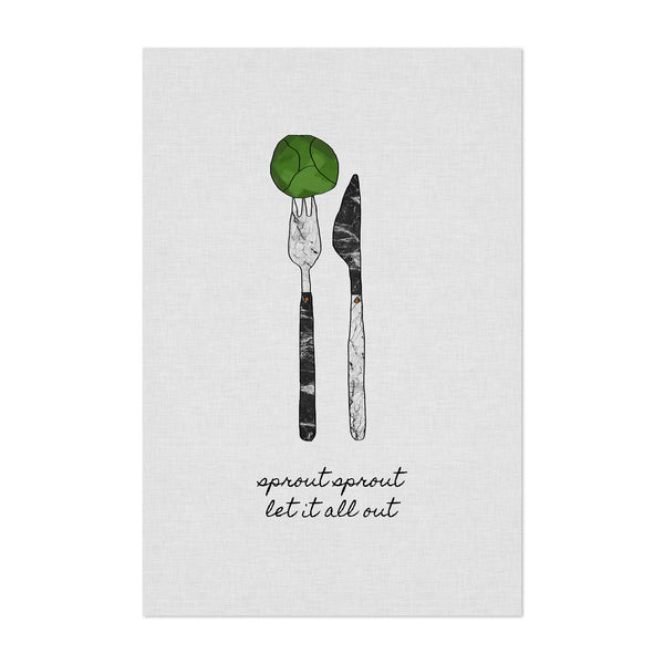 Kitchen Fork Knife Cooking Quote Art Print
