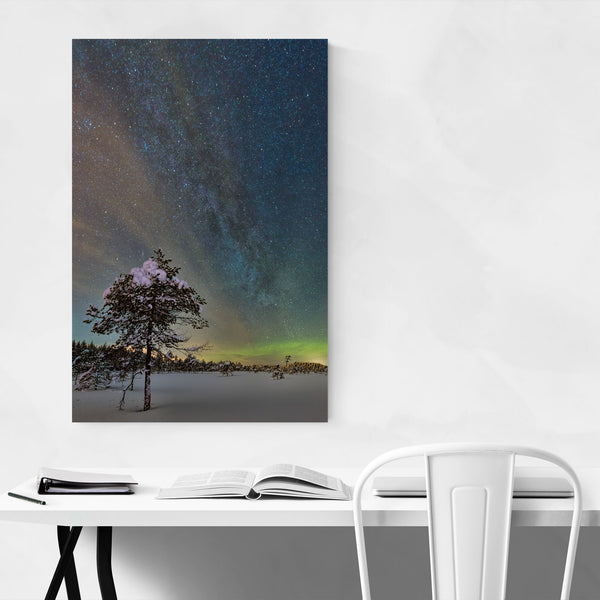 Milky Way Snow Sweden Night Art Print