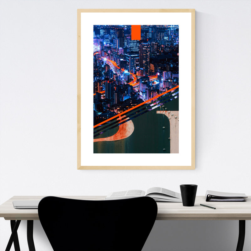 Pittsburgh Steel Skyline City Framed Art Print