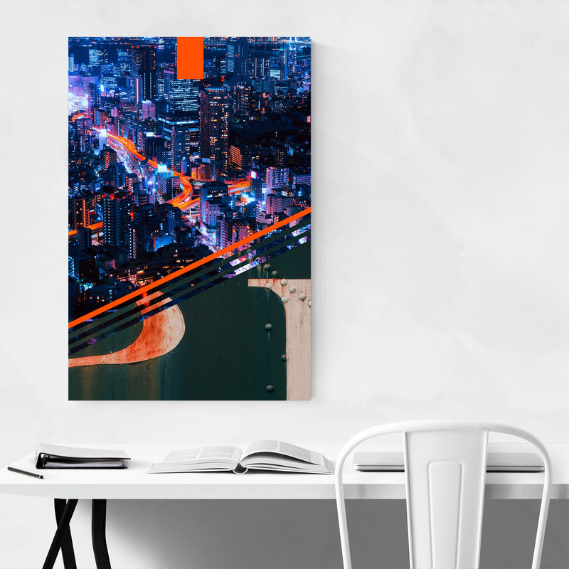 Pittsburgh Steel Skyline City Metal Art Print
