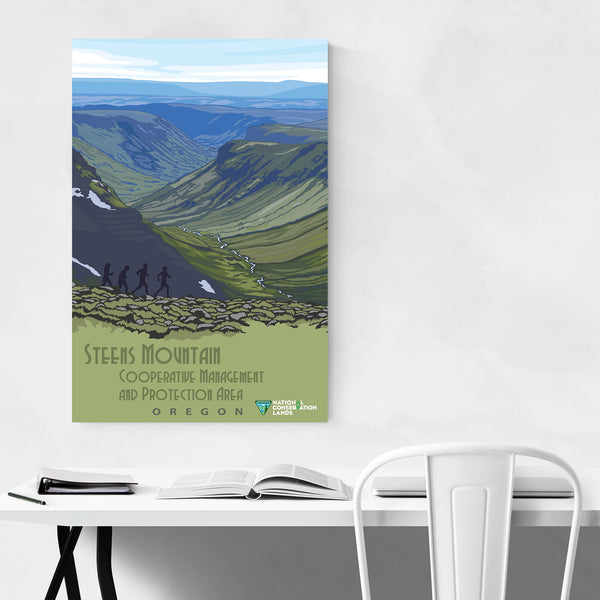 Steens Oregon Vintage Travel Art Print