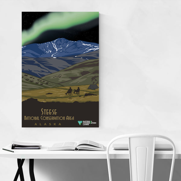 Steese Alaska Vintage Travel Art Print