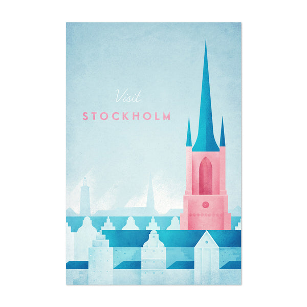 Minimal Travel Stockholm Sweden Art Print