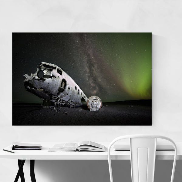 Abandoned Airplane Iceland Art Print