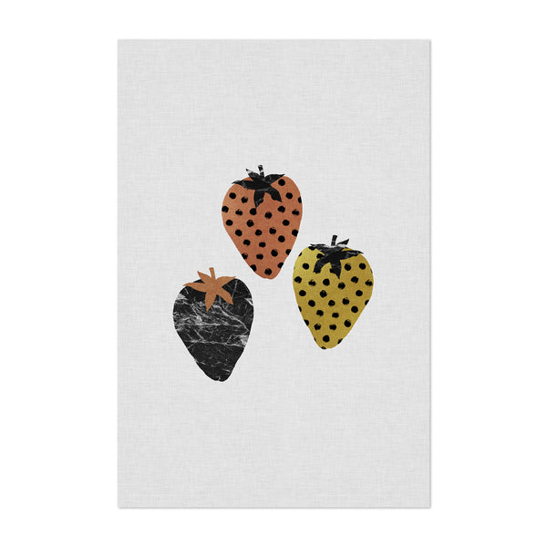 Strawberry Fruit Kitchen Food Art Print