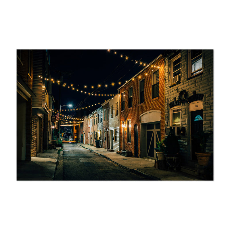Baltimore String Lights Street Art Print