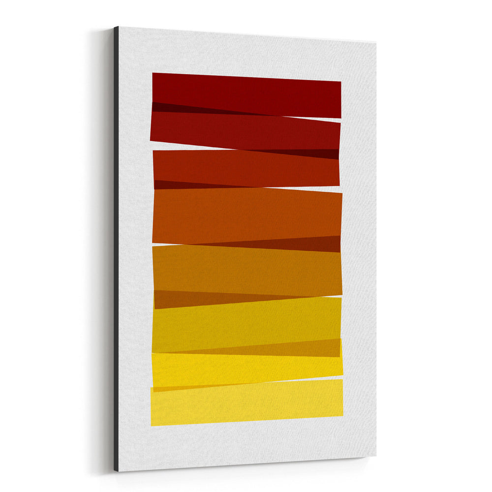 Abstract Minimal Stripe Painting Canvas Art Print
