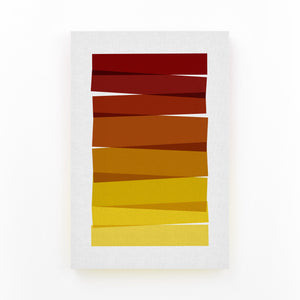 Abstract Minimal Stripe Painting Mounted Art Print