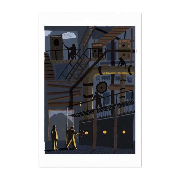 Indian Sugar Factory Art Print