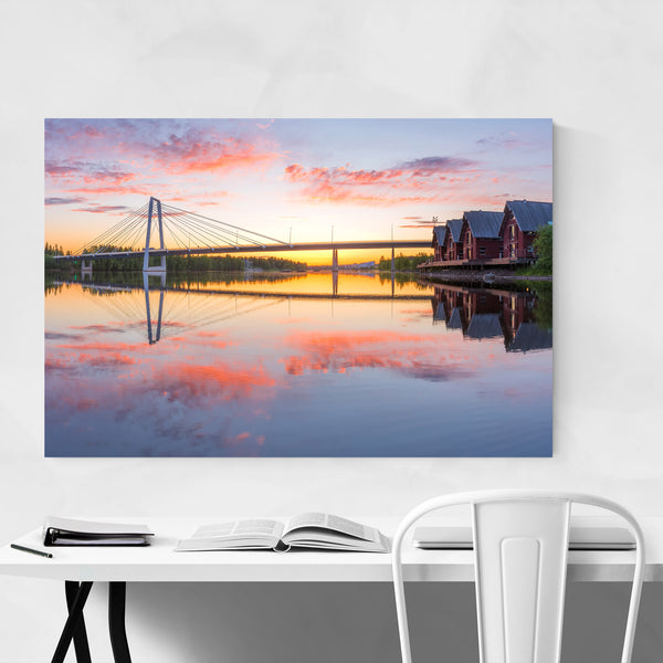 Modern Bridge Umea Sweden Art Print