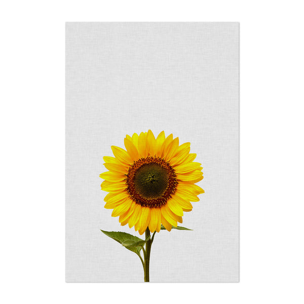 Sunflower Floral Minimal Yellow Art Print