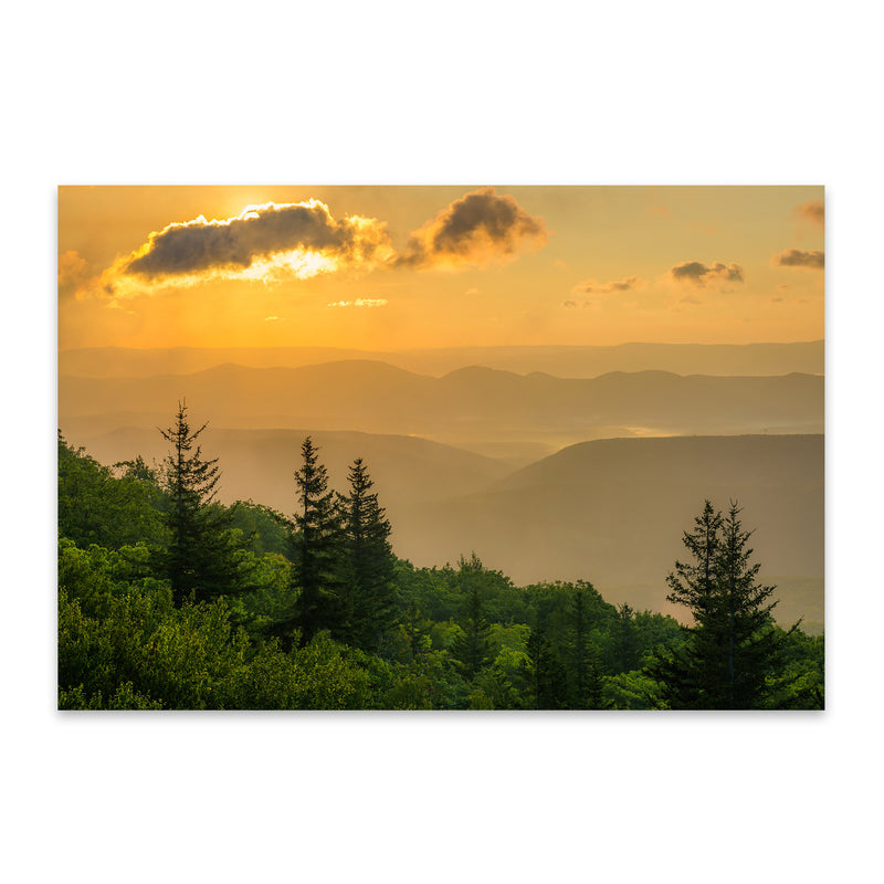 Mountains Sunrise Landscape Metal Art Print