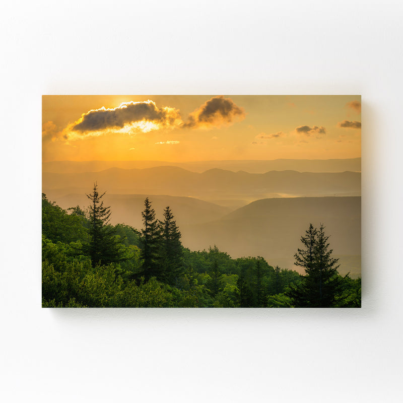 Mountains Sunrise Landscape Canvas Art Print