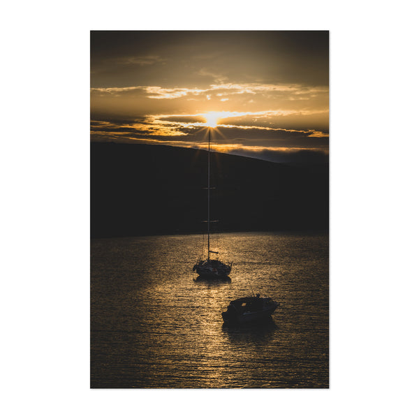 Repvag Norway Harbor Sunset Art Print
