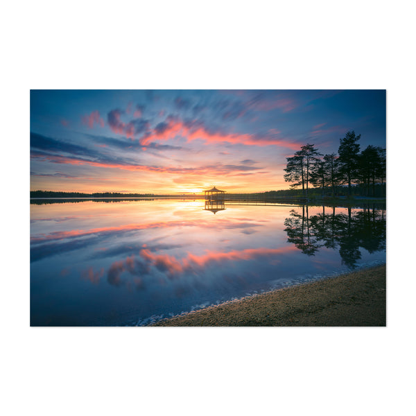 Lydala Lake Sunset Umea Sweden Art Print