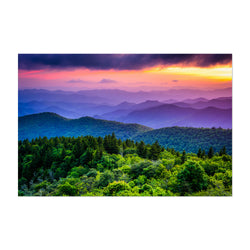 Blue Ridge Mountains Nature Art Print