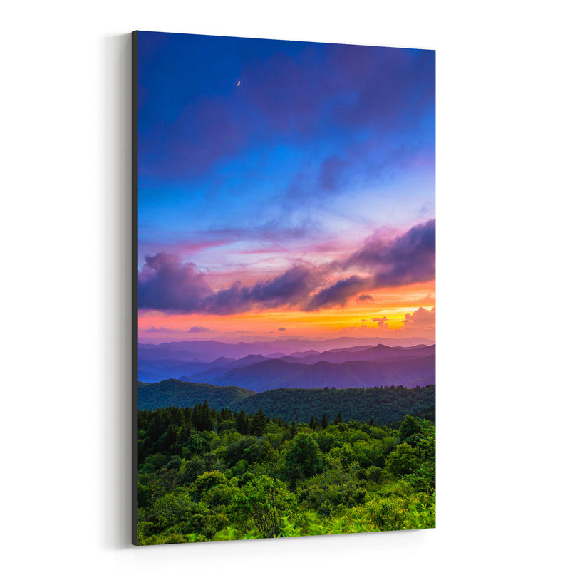 Blue Ridge Mountains Nature Canvas Art Print