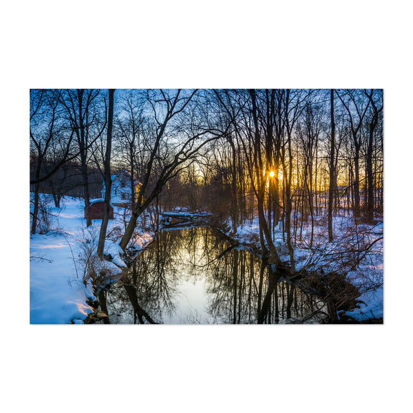 Rural Pennsylvania Farms Snow Art Print