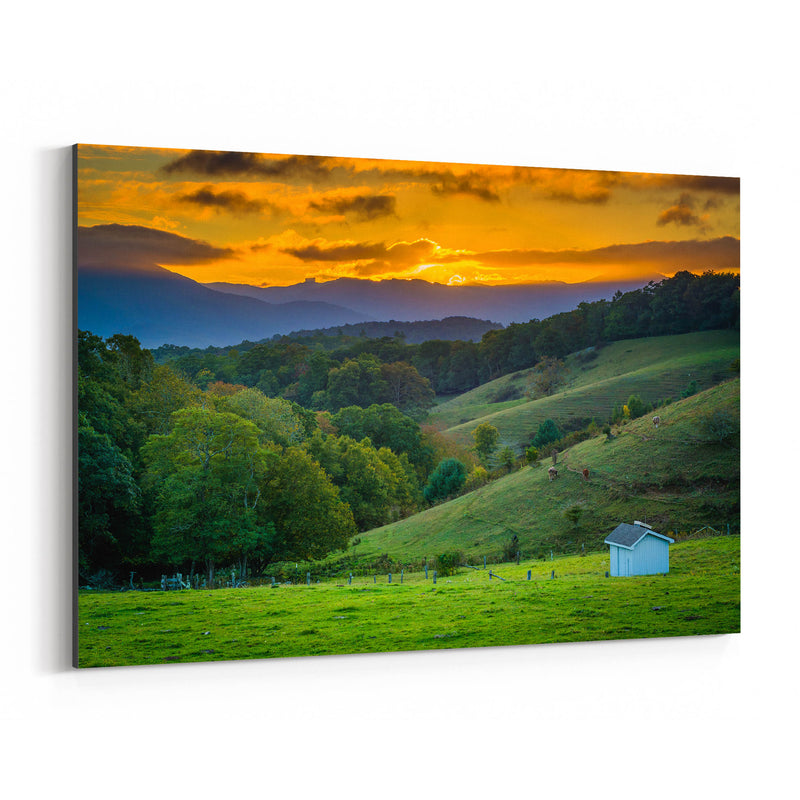 Blue Ridge Parkway NC Landscape Canvas Art Print