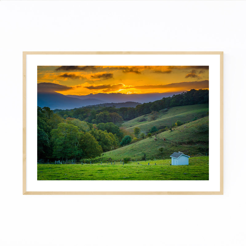 Blue Ridge Parkway NC Landscape Framed Art Print