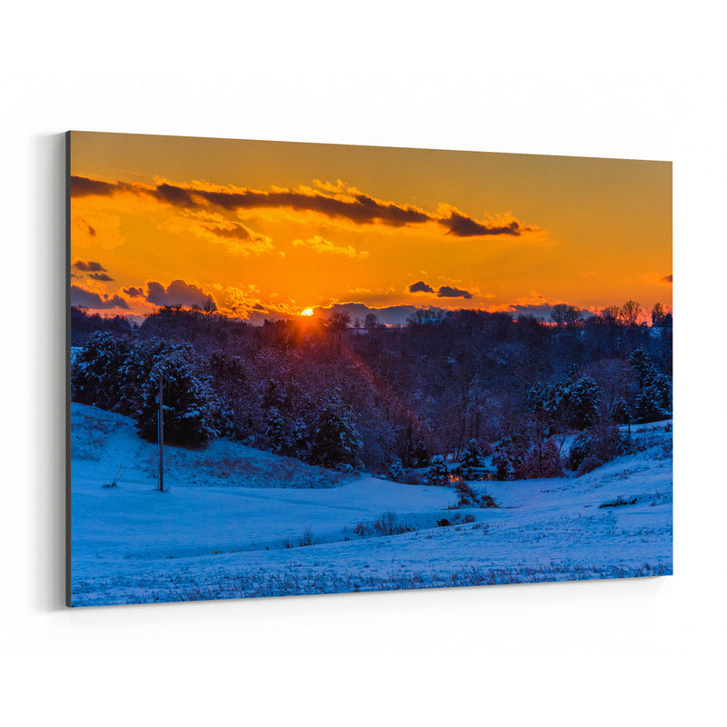 Snow Winter Landscape Nature Canvas Art Print