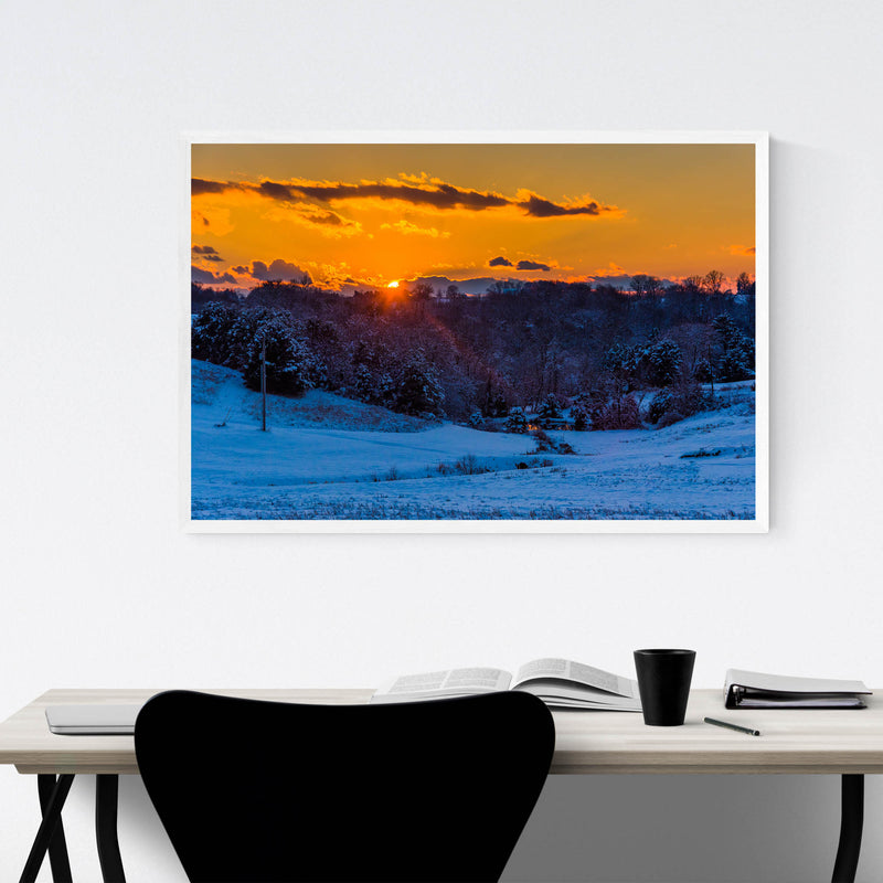 Snow Winter Landscape Nature Framed Art Print