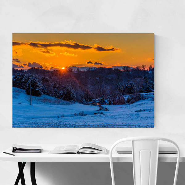 Snow Winter Landscape Nature Art Print