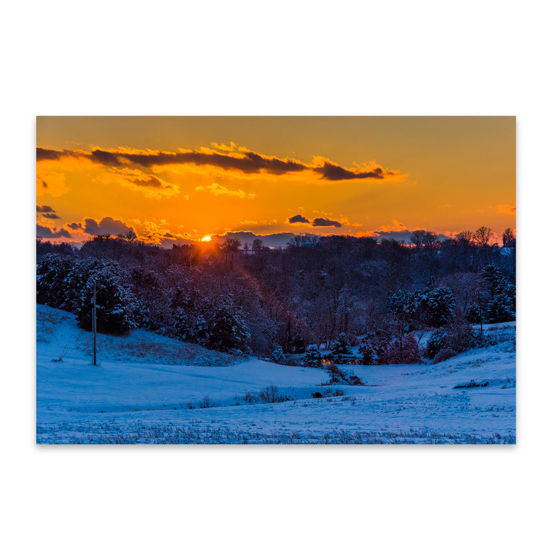 Snow Winter Landscape Nature Metal Art Print