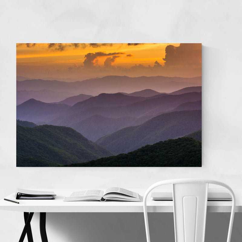 Blue Ridge Mountains Sunset View Art Print