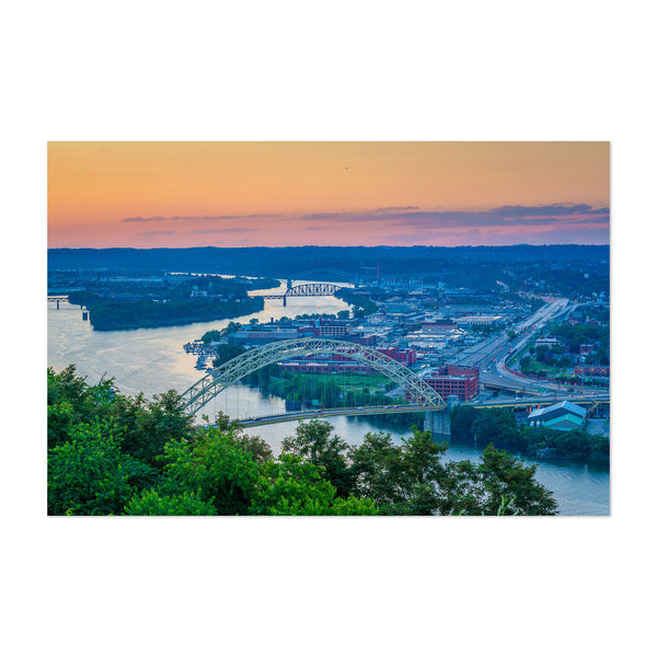 Pittsburgh Ohio River Sunset Art Print